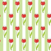 nahtloser Blumenmusterhintergrund mit Tulpenvektorillustration vektor