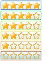 Aufkleberentwurf für gelbe Sterne