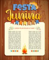 Lateinamerikanischer Feiertag, die Juniparty von Brasilien. Vektor-Illustration vektor