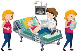 En vektor av gravid progression