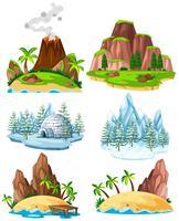Set von Orten in verschiedenen Jahreszeiten