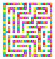 quadratisches Labyrinth-Spielzeug-Labyrinth-Spiel für Kinder. Labyrinth vektor
