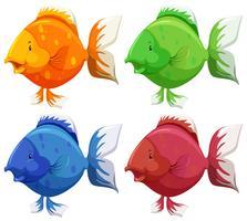 Söt fisk vektor