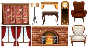 Verschiedene Arten von Möbeln vektor