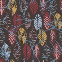 Nahtloses Muster des abstrakten Herbstes mit Blättern.