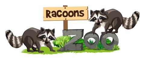 Raconer på djurtecknet vektor