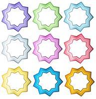 Färgglada uppsättning stjärnor