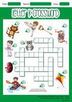 Kreuzworträtsel-Konzept des Buchstaben k