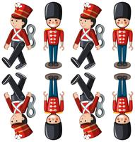 Spielzeugsoldaten in verschiedenen Positionen