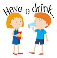 Ta en drink vektor