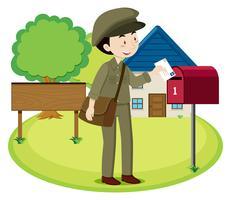 En postman leveransbrev