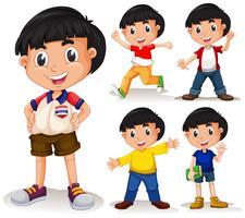 Pojke med svart hår vektor