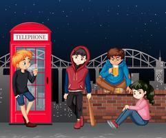 Problem tonåring på nattscenen