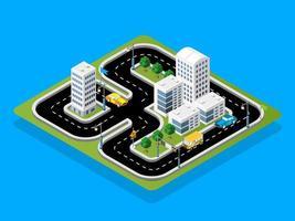 isometrische 3D-Illustration Bahnrennen mit Autos vektor