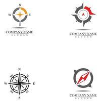 Vektor - Kompasszeichen und Symbole logo