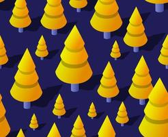 isometrische wald natur bäume landschaft lila nahtlose illustration vektor
