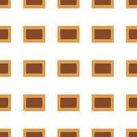 Illustration zum Thema großes Set identischer Keks, Kit Gebäckplätzchen vektor