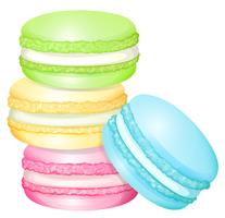 Stapel von bunten Macaron