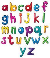 Brev av alfabetet konstverk vektor