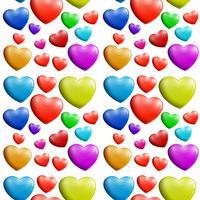 Ett sömlöst färgstarkt hjärta mönster