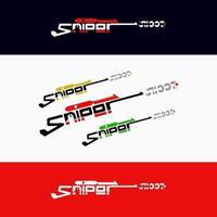 Scharfschützen-Shooting-Logo-Design-Vektor kostenlos vektor