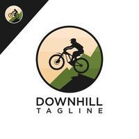 Downhill-Logo kostenloser Vektor