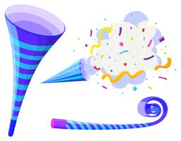 Partyhorn und Pop-Up-Kegel vektor