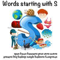 Viele Wörter mit S vektor