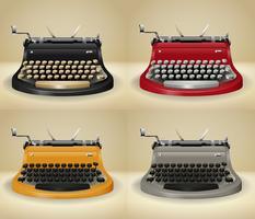 Retro Schreibmaschinen auf Grunge hintergrund vektor