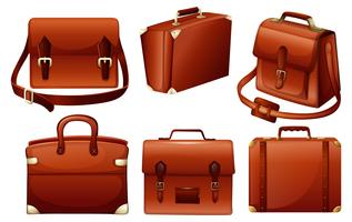 Verschiedene Designs von Taschen vektor