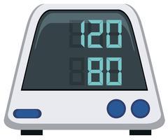 Blodtrycksmätare på vit bakgrund vektor