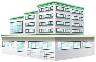 Byggdesign för sjukhus vektor