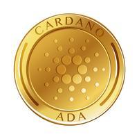 Cardano-Münze auf weißem Hintergrund vektor