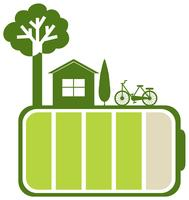 Grüne Batterie und Natur