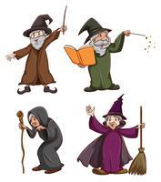 Hexe und Zauberer vektor