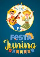 Lateinamerikanischer Feiertag, die Juniparty von Brasilien. Vektor-Illustration