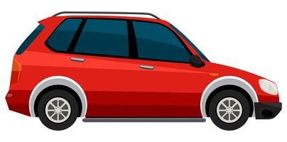 Elektroauto auf weißem Hintergrund vektor