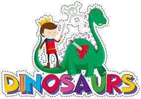 Wortentwurf für Dinosaurier vektor