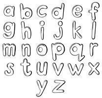 Bokstäver i alfabetet vektor