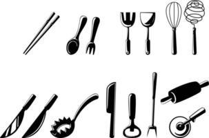 Illustration von isolierten Küchenwerkzeugen vektor