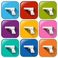 Pistol ikoner vektor