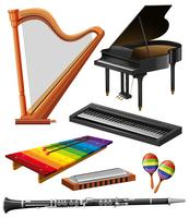 Verschiedene Musikinstrumente vektor