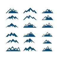 Berge Peak Vektor Icon Logo Design-Vorlage