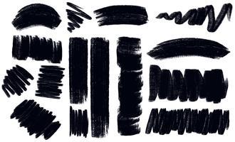 Verschiedene Striche in schwarzer Farbe vektor