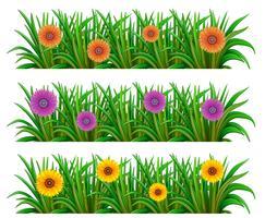 En blommig trädgård