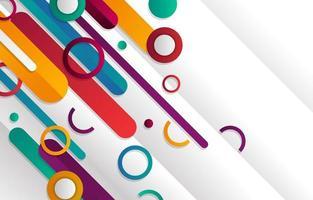 moderner futuristischer geometrischer Hintergrund mit Farbverlauf vektor
