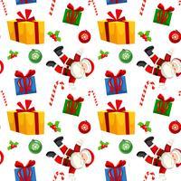 Julklapp sömlösa mönster