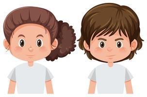 Jungen und Mädchen Charakter vektor