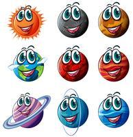 Animerade planeter