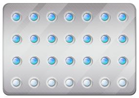 Antibabypillen im Pack vektor